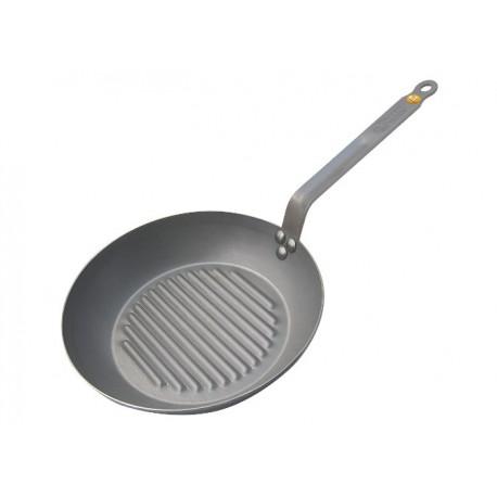 Poêle grill ronde De Buyer 32 cm