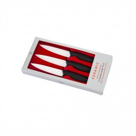 Coffret 3 couteaux steak céramique