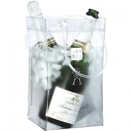 Sac à glace Ice Bag transparent 2 bouteilles