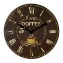 Horloge Shop Coffee 30 cm