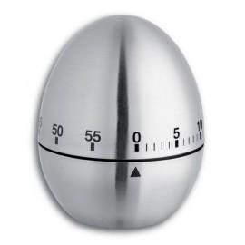 Minuteur mécanique 60mn - Acier inox