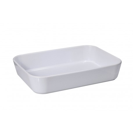 Plat rectangulaire blanc 31x22 cm