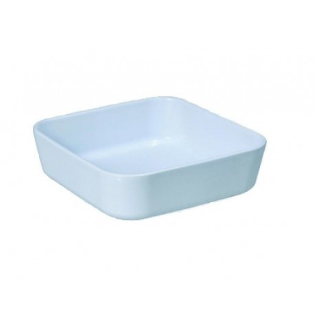 Plat rectangulaire blanc 19x19 cm