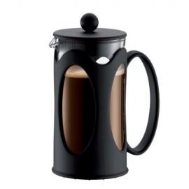 Cafetière en verre Kenya à piston 3 tasses 0.35L noire