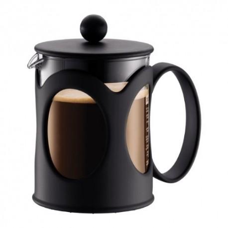 Cafetière en verre Kenya à piston 4 tasses 0.5L noire