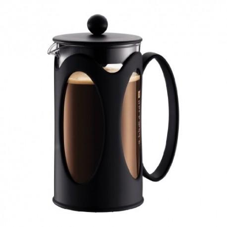 Cafetière en verre Kenya à piston 8 tasses 1L noire