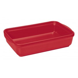 Plat rectangulaire 32 x 23 cm rouge