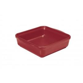 Plat carré 20 x 20 cm rouge