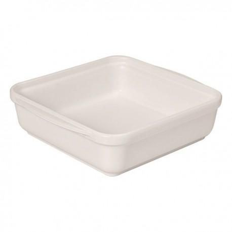 Plat carré 20 x 20 cm sel