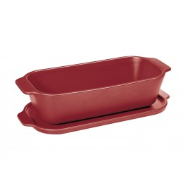 Terrine rectangulaire 26 x 13 cm rouge