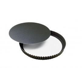 Tourtière ronde cannelée fond mobile Gobel Diamètre 24 cm