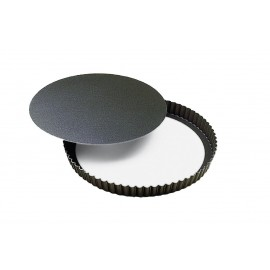 Tourtière ronde cannelée fond mobile Gobel Diamètre 28 cm