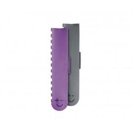 Lot de 2 protège-lames aimantés Bisbell 15 x 2.5 cm Gris et violet