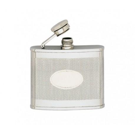 Flasque inox guilloché avec écusson KEEN SPORT 120 ml