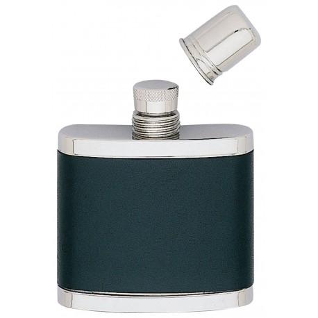 Flasque inox gainée cuir avec gobelet Keen Sport 150 ml