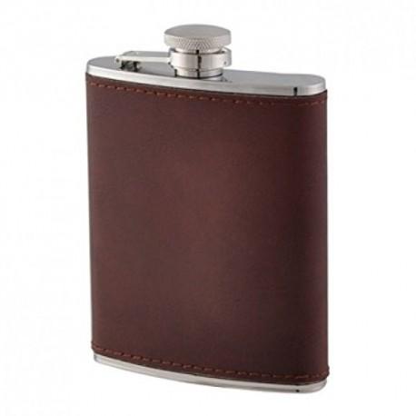 Flasque inox gainée cuir Keen Sport 180 ml 11668