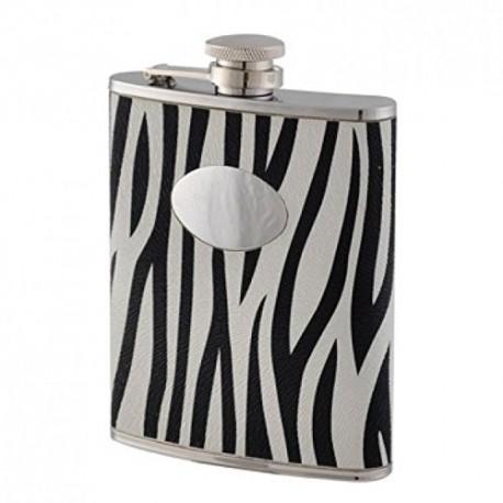 Flasque inox avec écusson décor zèbre Keen Sport 180 ml