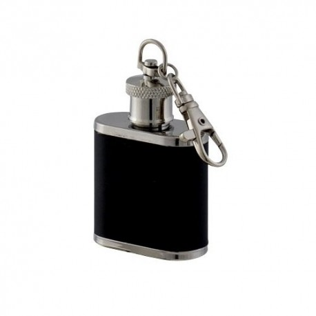 Flasque porte cl s inox gain e cuir keen sport 30 ml for Porte inox cuisine exterieure
