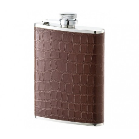 Flasque inox gainée cuir 180 ml 542600