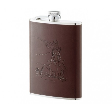Flasque inox gainée cuir décor chasse 240 ml 544200