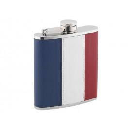 Flasque Inox Gainée Façon Cuir Tricolore 180ml