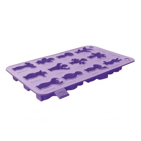 Moule à glaçons et gâteaux Vacu vin violet