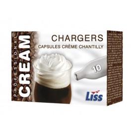 Boîte de 10 cartouches pour siphons à crème chantilly