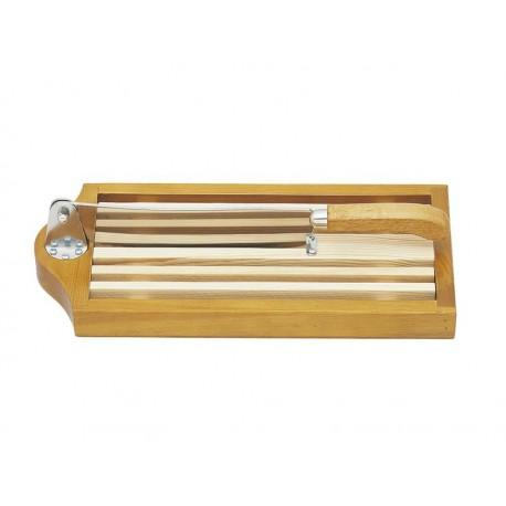 Couteau à pain sur socle avec claie amovible