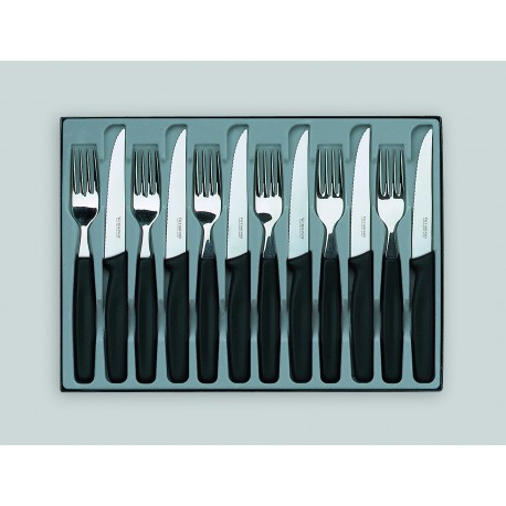 Coffret de 6 couteaux à steak et 6 fourchettes VICTORINOX
