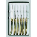 Coffret 6 couteaux de table LAGUIOLE G.DAVID - corne blonde