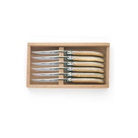 Coffret bois 6 couteaux de table LAGUIOLE G.DAVID.