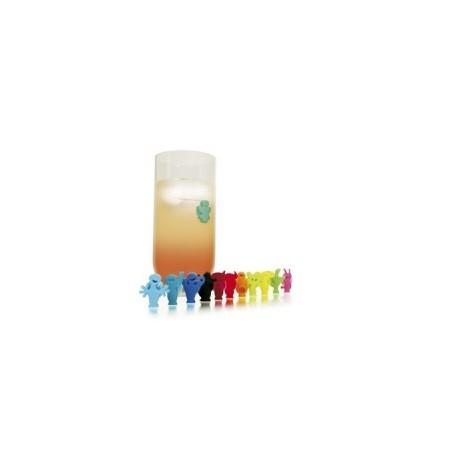 Lot de 12 marque-verres